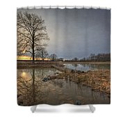 Sunset At Timber Banks Shower Curtain