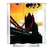 Sunset At Tower Brigde Shower Curtain