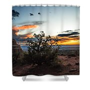 Sunset At Turrent Arch Shower Curtain