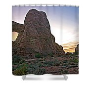 Sunset At Turret Arch Shower Curtain