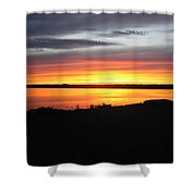 Sunset Bar Harbor Maine Shower Curtain
