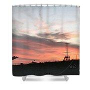 Sunset Battleship Shower Curtain