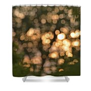 Sunset Bokeh  Shower Curtain