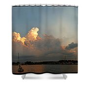 Sunset Clouds Over The Bay Shower Curtain