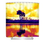 Sunset Colour Shower Curtain