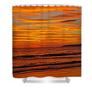 Sunset Colours Shower Curtain
