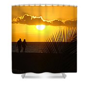 Sunset Couple Shower Curtain