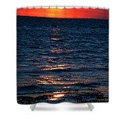 Sunset Denmark Samsoe Island Shower Curtain