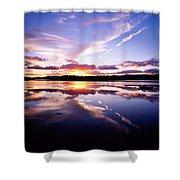 Sunset, Dinish Island Kenmare Bay Shower Curtain