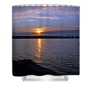 Sunset Egg Harbor Shower Curtain