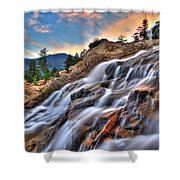 Sunset Falls Landing Shower Curtain