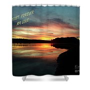 Sunset Forever My Love Shower Curtain