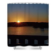 Sunset From The Bridge Shower Curtain