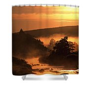 Sunset, Glendalough Glendalough, Co Shower Curtain