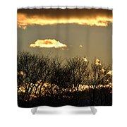 Sunset Gold Shower Curtain