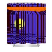 Sunset Grid Shower Curtain