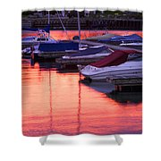 Sunset Harbor Shower Curtain