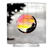 Sunset In A Bubble Shower Curtain