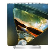 Sunset In A Glass Shower Curtain
