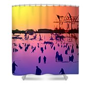 Sunset In Central Park Shower Curtain