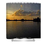 Sunset In Clearwater Florida Shower Curtain