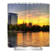 Sunset In Hermann Park Shower Curtain