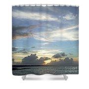 Sunset In Majuro Shower Curtain