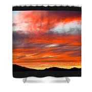 Sunset In Motion Shower Curtain