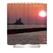 Sunset In New York Shower Curtain