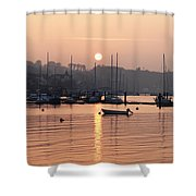 Sunset In The Harbor Crosshaven County Shower Curtain