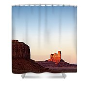 Sunset In The Valley Shower Curtain by Dave Bowman