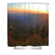 Sunset In Yosemite Shower Curtain