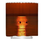 Sunset Kayakers Shower Curtain