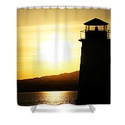 Lake Havasu Sunset Lighthouse Shower Curtain
