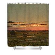 Sunset Shower Curtain by Martin Johnson Heade