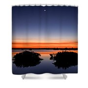 Sunset Moon Venus Shower Curtain