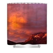 Sunset Murren Switzerland Shower Curtain