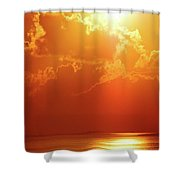Sunset Near Venice La Shower Curtain