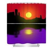 Sunset No. 3 Shower Curtain