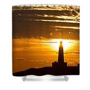 Sunset Obelisk Shower Curtain