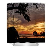 Sunset On Biloxi Bay Shower Curtain