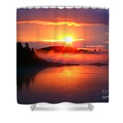 Sunset On Campobello Island  Shower Curtain