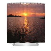 Sunset On Eagle Harbor Shower Curtain