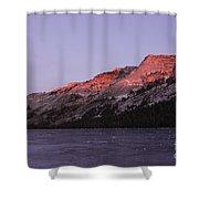 Sunset On Frozen Tenaya Lake Shower Curtain