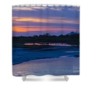 Sunset On Honeymoon Island Shower Curtain