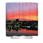 Sunset On Lake Havasu Shower Curtain