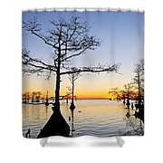 Sunset On Lake Mattamuskeet Shower Curtain