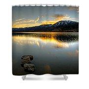 Sunset On Little Washoe Shower Curtain