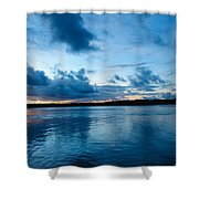 Sunset On Noosa River Shower Curtain