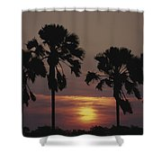 Sunset On Shire River Shower Curtain